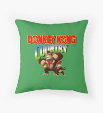 Donkey Kong Country Throw Pillow