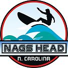 Surfing NAGS HEAD NORTH CAROLINA Surf Surfer Surfboard Waves Ocean Beach Vacation by MyHandmadeSigns