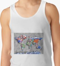 world map flags 3 Tank Top