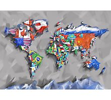 world map flags 3 Photographic Print
