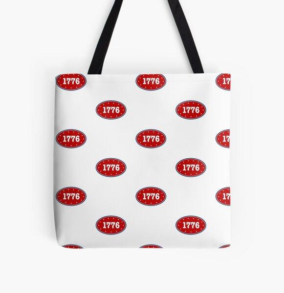 1776 - Patriotic 4th of July design All Over Print Tote Bag