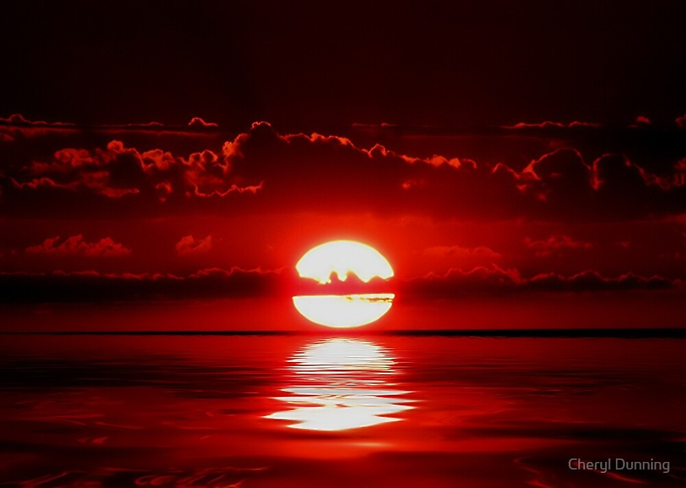 red reflection by Cheryl Dunning