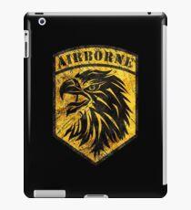 Airborne Shield Vintage Yellow iPad Case/Skin