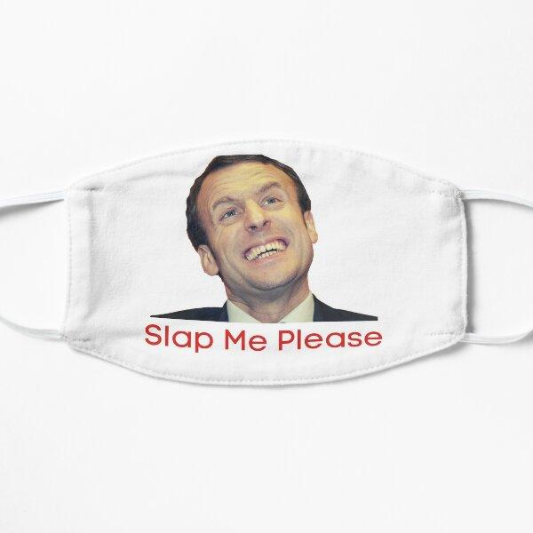 Macron me gifle s'il te plait Masque sans plis