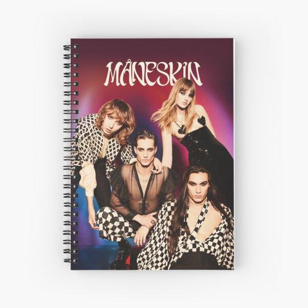 Måneskin rock band Maneskin winner Italy Eurovision 2021 Spiral Notebook