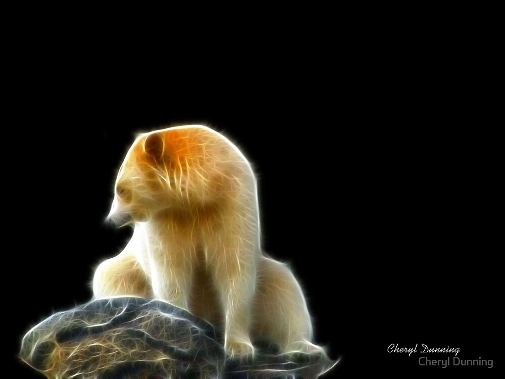 lonely bear by Cheryl Dunning