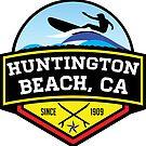 Surfing HUNTINGTON BEACH CALIFORNIA Surf Surfer Surfboard Waves Ocean Beach Vacation by MyHandmadeSigns