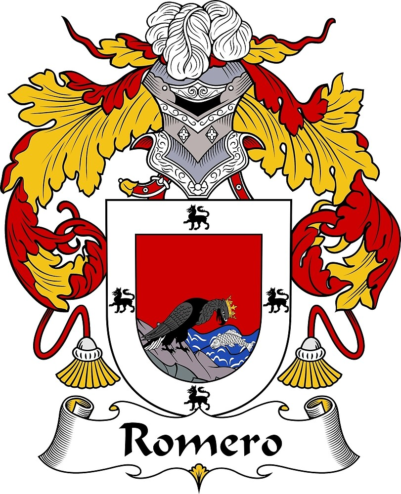 Romero Coat of Arms/Family Crest by William Martin