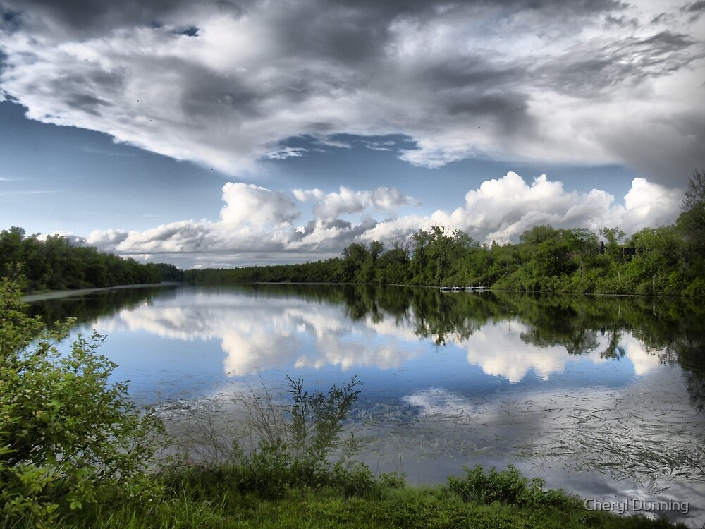 hdr reflective view by Cheryl Dunning