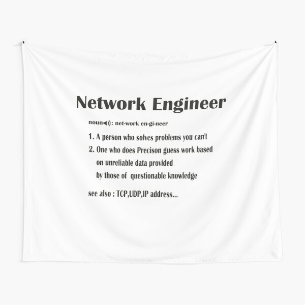 Network Engineer Funny Dictionary Noun Definition  (Funny Networking) Tapestry