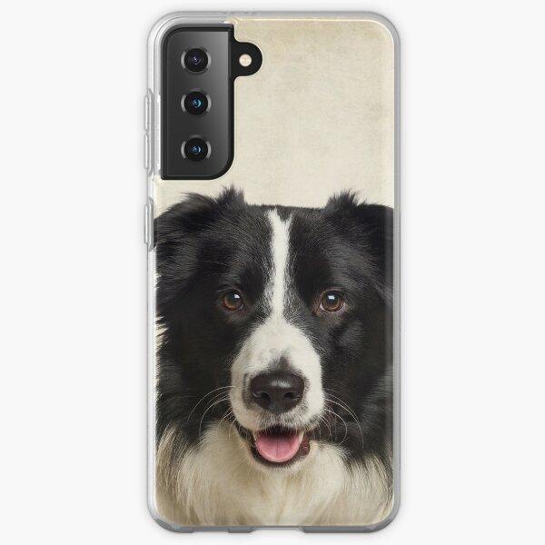 Border Collie Art, Domestic Dog, Animal Portrait Samsung Galaxy Soft Case