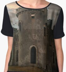 Clifden Castle At The Sunset Women's Chiffon Top