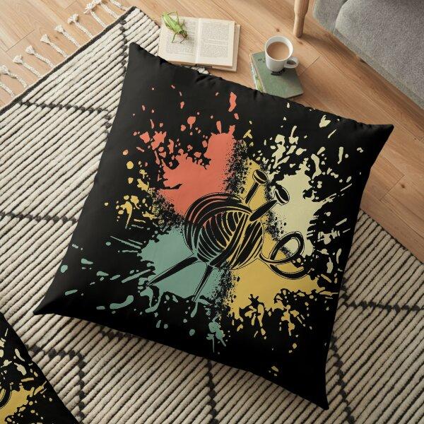 CROCHET INK SPLASH Floor Pillow