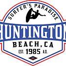 Surfing HUNTINGTON BEACH CALIFORNIA Surf Surfer Surfboard Waves Ocean SURFER'S PARADISE by MyHandmadeSigns