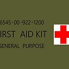 First Aid Kit Decal - US Army stylings by branpurn
