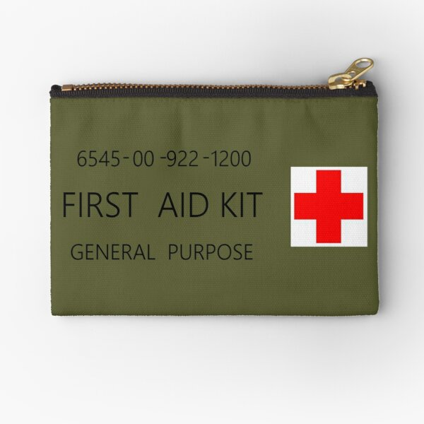 First Aid Kit Decal - US Army stylings Zipper Pouch