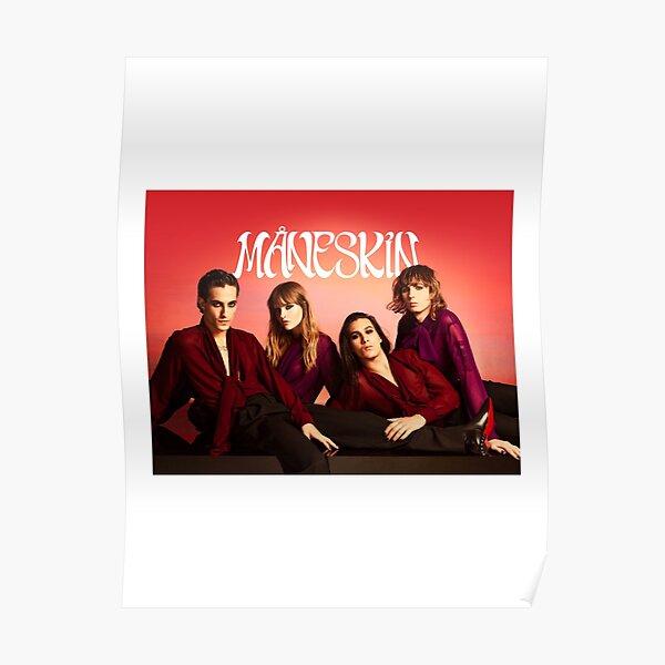 Måneskin rock band Maneskin winner Italy Eurovision 2021 Poster