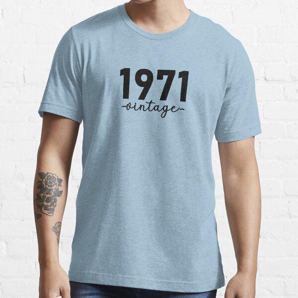 Chemise Vintage 1971, 1971 Vintage, 1971 Vintage Hoodie, 1971 Vintage Masks, 1971 Vintage Fitted Masks T-shirt essentiel