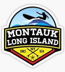 Surfing MONTAUK NEW YORK Surf Surfboard Waves LONG ISLAND Sticker