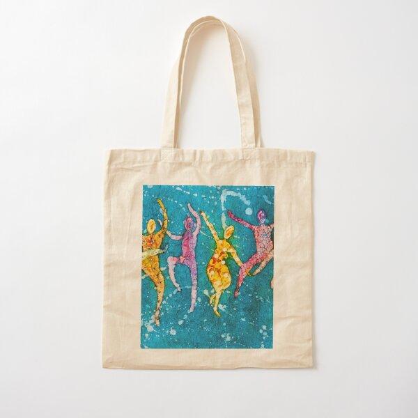Joy of Dancing Cotton Tote Bag