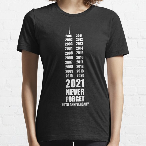 September 11th - 20th Anniversary 911 WTC 2001-2021 Essential T-Shirt