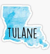 Tulane Watercolor Sticker