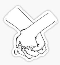 Holding hands Sticker