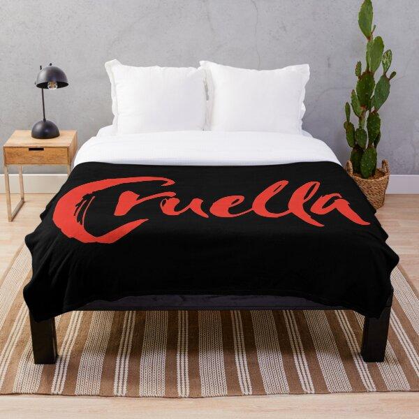 Cruella de Vil in red and black Throw Blanket