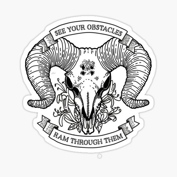 Zodiac Tattoo Series - Aries Sticker