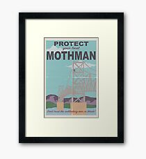 Protect Your Local Mothman Framed Print