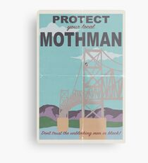 Protect Your Local Mothman Metal Print