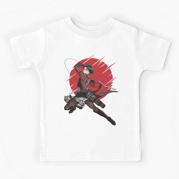 Attaque sur l'anime titan - Capitaine Levi T-shirt classique | Anime | T_Shirt Anime | Couverture Anime | Couvertures Anime | Cadeau d'anime T-shirt enfant