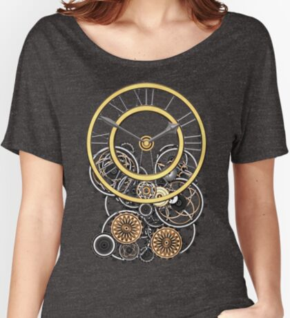 Stylish Vintage Steampunk Timepiece Steampunk T-Shirts Women's Relaxed Fit T-Shirt