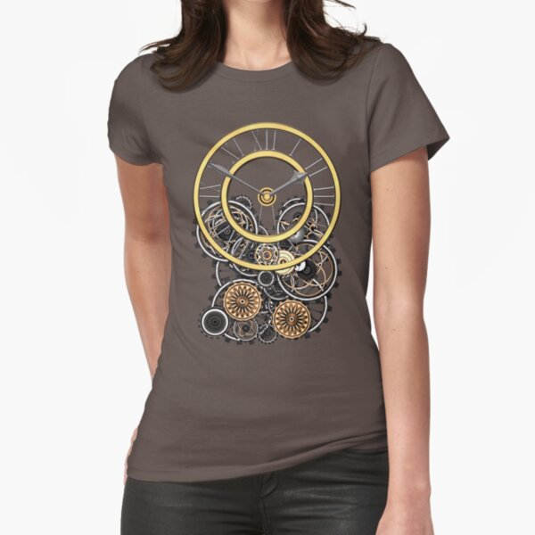 Stylish Vintage Steampunk Timepiece Steampunk T-Shirts Fitted T-Shirt