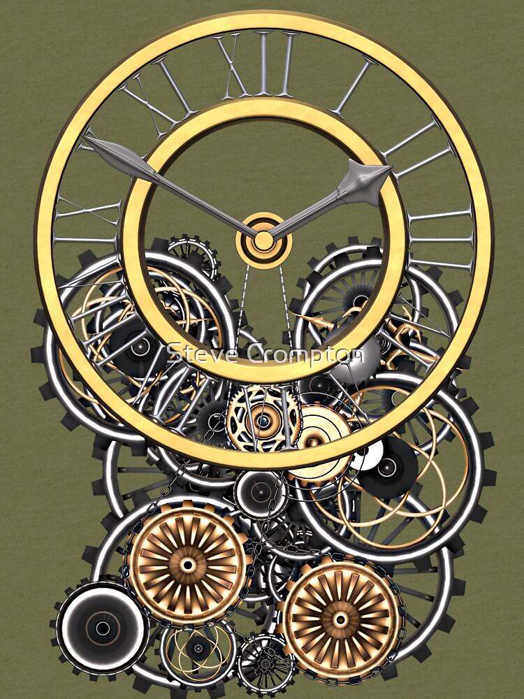 Stylish Vintage Steampunk Timepiece Steampunk T-Shirts by SC001