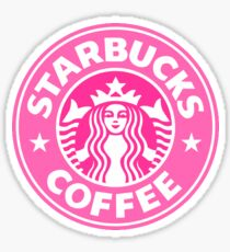 Pink Starbucks Sticker