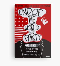 MR ROBOT: END OF THE WORLD PARTY Metal Print