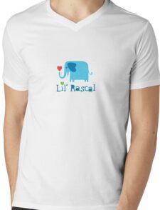 Elephant Lil Rascal blue Mens V-Neck T-Shirt