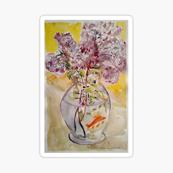 Lilacs in Fishbowl  Sticker