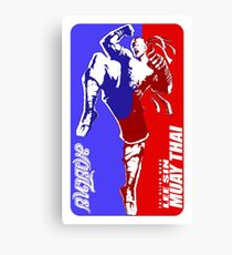 lee sin muay thai fighter thailand martial art sport logo badge sticker shirt Canvas Print