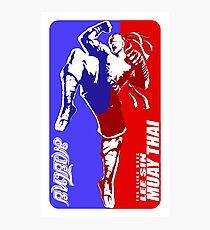 lee sin muay thai fighter thailand martial art sport logo badge sticker shirt Photographic Print