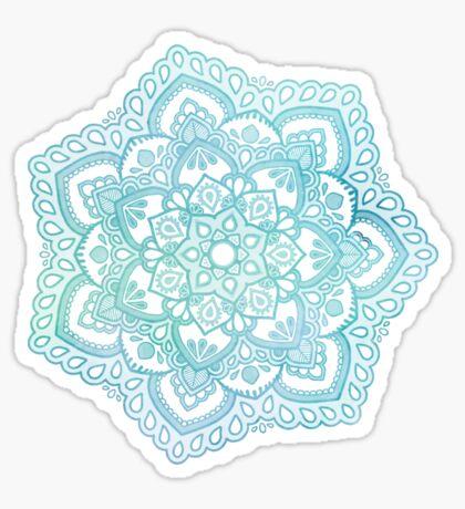 Blaue Mandala Sticker