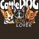 Australian Cattle Dog Lover (Dark) by offleashart