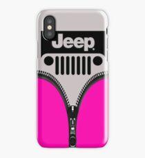 Jeep Pink Zipper iPhone Case/Skin