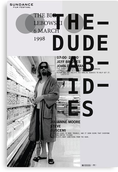THE DUDE ABIDES (THE BIG LEBOWSKI) by Amber Christman