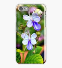 Blue Butterfly Plant iPhone Case/Skin