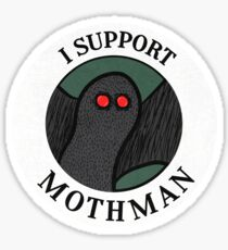 I Support Mothman Sticker