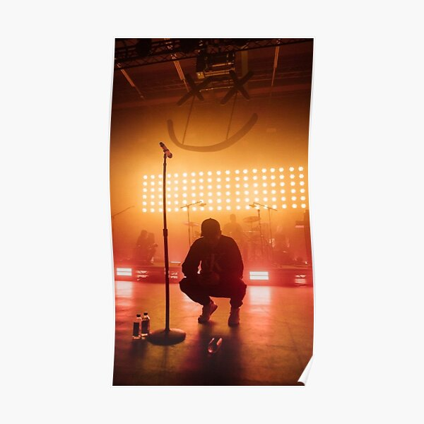 Louis Tomlinson walls concert orange Poster