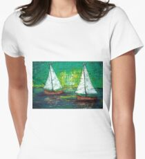 Sail Away With Me Women's Fitted T-Shirt