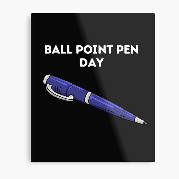Ballpoint Pen Day Metal Print